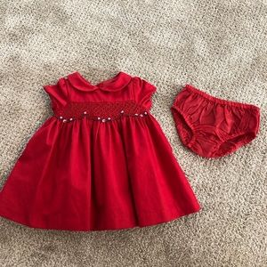 Janie and Jack Christmas Dress Size 3-6 months